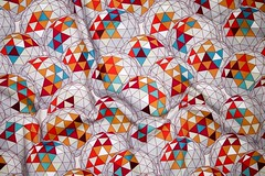 dreamsphere spoonflower photograph 09082017 (Scrummy Things) Tags: spoonflower contest top10 geodesic geo geometric sphere fabric surfacedesign pattern wallpaper giftwrap maroon orange blue cream grey gray gold yellow modern graphic
