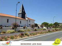 benesse_eglise (Tourisme Landes) Tags: landes fleurs vvf