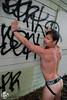 Brad (Levi Smith Photography) Tags: jock strap jockstrap muscle arm butt underwear tattoos tattoo wall pose male nude fashion mens men man mans graffiti beard