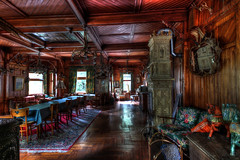 Hunters dining room (urban requiem) Tags: restaurant cornes bois trophées chasse chasseur diningroom boiseries salle urbex urban exploration urbanexploration urbanrequiem verlaten verlassen abandonné abandoned lost old decay derelict hdr 600d 816 sigma allemagne germany deutschland vintage hotel jäger hunter hunters huntershotel