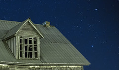 Is someone watching (Danny VB) Tags: stars winter wood canon 6d window house gaspesie abandoned