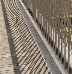 crisscrossed (stevefge) Tags: nijmegen waalbrug railings shadows diagonal light abstract path bridges nederlandvandaag reflectyourworld