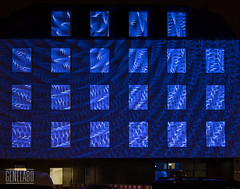 creation of blue swirl (genelabo) Tags: sana videomapping münchen sendling plinganserstrase crushed eyes projection visuals klinik krankenhaus hospital coge imimot blue blau fenster gesundheitscampus madmapper genelabo windows sony swirl