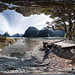 360 panorama at Milford Sound, Fiordland, New Zealand