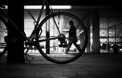 Hamster wheel ? (elgunto) Tags: people street streetphoto streetphotography blackwhite bw barcelona poblenou sonya7 sonyfe55mm18