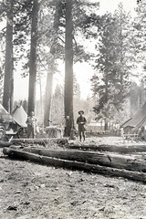1922. W.L. Jones and W.G. Durbin at insect control camp number 32. Southern Oregon Northern California control project. (USDA Forest Service) Tags: usda usfs foresthealthprotection bureauofentomology forestservice forestprotection stateandprivateforestry controlproject sonc southernoregonnortherncalifornia insect barkbeetle mortality burn forest forestentomology entomologist entomology divisionofforestinsectinvestigations forestinsect insectcontrol wgdurbin wljones insectcontrolcamp32 may1922 1922 fpkeen bur3200 williamgdurbin billdurbin