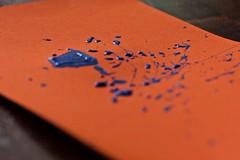 splattered (pickled-tink) Tags: macromondays orangeandblue
