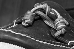 Summer Shoes (brucetopher) Tags: flickrfriday knot knotted tassle loop spiral twist leather shoe shoes moc laces lace boatshoe lacing tie tied 7dwf