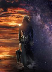 we're not in Kansas anymore (azar2007) Tags: photoshop manipulation portrait stars milkyway sunset fantasy sf nikon d90