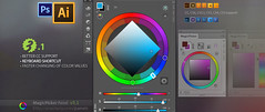 magicpicker 3.1 update  keyboard shortcut, illustrator improvements, new features! (colorwheels) Tags: cloud color art colors wheel digital photoshop painting square photography design triangle keyboard artist panel box shortcut creative tools cc tricks digitalpainting adobe tips schemes plugin illustrator update upgrade palette modes tutorials picker cs3 cs4 hints dimond cs6 colorschemes cs5 conceptartists cs55 cs51 magicpicker anastasiy