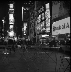 times square b/w (branko_) Tags: white black film night rollei rolleiflex square times