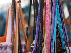 Colours (Derek Midgley) Tags: clothing market melbourne fabric vic accessories colourful garments p6140539