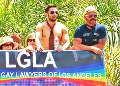 LAPride2 2014 064 (danimaniacs) Tags: gay shirtless man hot sexy guy smile pecs beard losangeles muscle muscular chest hunk pride parade westhollywood scruff csw lapride22014