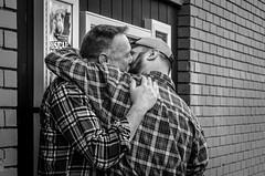 Be Proud (Emilien ETIENNE) Tags: sanfrancisco street gay portrait blackandwhite bw love beard blackwhite nikon kiss couple noiretblanc candid streetphotography nb photoderue 2guys scenederue scenedevie d7000 nikond7000 emilienetienne