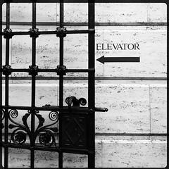 ELEVATOR (Chris Blakeley) Tags: seattle sign museum gate elevator seattleasianartmuseum hipstamatic