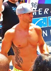 LAPride2 2014 120 (danimaniacs) Tags: shirtless man hot sexy pecs hat tattoo beard losangeles chest hunk parade cap gaypride westhollywood scruff csw tats lapride22014