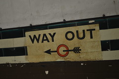 Way Out Direction (CoasterMadMatt) Tags: city uk greatbritain 2 summer england london english heritage history abandoned westminster station sign june strand train way out underground photography nikon closed tour photos unitedkingdom britain interior south united capital great platform railway kingdom east railwaystation aldwych photographs trainstation gb disused british inside londonunderground southeast thestrand wayout thetube 2014 nikond3200 transportforlondon capitalcity platform2 cityofwestminster disusedstation abandonedstation d3200 aldwychundergroundtour coastermadmatt june2014 coastermadmattphotography