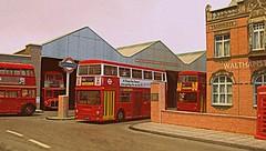Wathamstow bus garage (kingsway john) Tags: london transport walthamstow bus garage dms rm routemaster fleetline diorama 176 scale model londontransportmodel oo gauge miniature