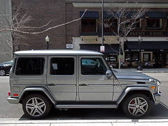 Mercedes-Benz G63 AMG (Hertj94 Photography) Tags: street chicago public car silver gold mercedes benz coast illinois nikon hunting exotic german rush april spotted suv v8 leaping awd spotting amg 2013 g63 s8200