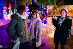 Free at Bright Nights - extra (guaiz2r) Tags: park christmas canada anime club vancouver swimming swim 35mm canon eos lights downtown bc bright cosplay free stanley nights 5d ef rin matsuoka gou seijuro f14l iwatobi mikoshiba