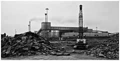 Redcar Steel Works . (wayman2011) Tags: bw industry canon cleveland cranes northyorkshire redcar steelworks teeside industrialworks southgare canon50d
