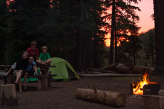 our campsite at Crater Lake (Ben McLeod) Tags: sunset centraloregon brothers liam backpacking craterlake campbell