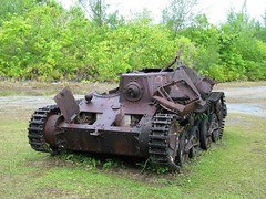 Type 95 Ha-Go Tank 九五式軽戦車 ハ号 in Peleliu near the airfield.<br /><br /><br />This Japanese Type 95 Ha-Go light tank was knocked out during the Battle of Peleliu, it still stand on the same spot it got destroyed