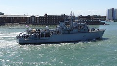D-Day 70: HMS Chiddingfold (M37) (Nozzr) Tags: british warship minesweeper britishnavy royalnavy opv m37 minehunter huntclass offshorepatrolvessel minecountermeasuresvessel seafoxdrone