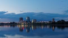 Springfield, MA (davelemi) Tags: sunset skyline ma springfield bluehour connecticutriver springfieldma
