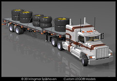 PICT06c (2LegoOrNot2Lego) Tags: wheel truck star us big king suspension rig western load mack global solid fifth peterbilt flatbed kenworth axle lode freightliner