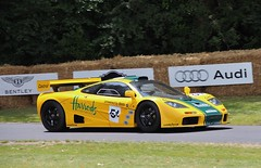 6R (Matt Ryde) Tags: justin green yellow festival speed bell f1 harrods derek mans le mclaren 1995 fos goodwood hillclimb gtr livery 2014