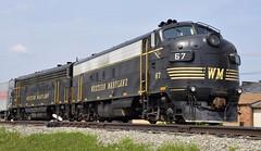 Elkins, West Virginia (Bob McGilvray Jr.) Tags: railroad train tracks wm westvirginia elkins westernmaryland fp7a durbingreenbriervalleyrailroad