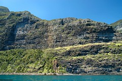 Cliffs Between Mt Lidgbird & Mt Gower - Lord Howe Island Circumnavigation (Black Diamond Images) Tags: mountains island boat paradise australia cliffs nsw reef boattrip circumnavigation lordhoweisland worldheritagearea thelastparadise circleislandboattour