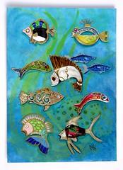 Fish Bling #3 (dog.happy.art) Tags: original fish painting paint acrylic pin brooch jewelry pins collection handpainted collectible acrylics collectable brooches mpn