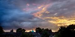 Sky over rooftops