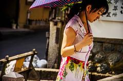 Kyoto Woman (adamlapish) Tags: woman japan kyoto asia parasol kimono umbrealla