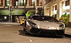 Lamborghini Aventador Roadster (Jack de Gier) Tags: italy london cars night nikon wrapped scene knightsbridge bull exotic setting luxury supercar matte sportscar qatar combo roadster hypercar worldcars aventador