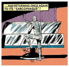 returning to the sarcophagus (Tom Simpson) Tags: startrek illustration vintage comics comic comicbook sarcophagus mummy mummies 1973