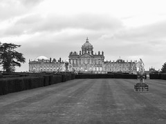 Castle Howard in B+W processed by Patrick Rosenbalm (Canadian Pacific) Tags: greatbritain england bw house building home architecture unitedkingdom britain yorkshire north northern manor malton stately castlehoward swirescastle