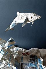 dolphin (nyanko sensei) Tags: origami dolphin kawahata fumiaki