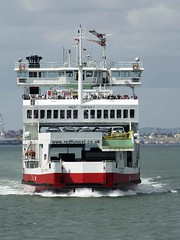 Red Osprey (IndiaEcho Ships) Tags: red sea england test water ferry thames port river boat dock ship harbour craft vessel hampshire terminal southampton society isle osprey funnel roro wight berth tss of