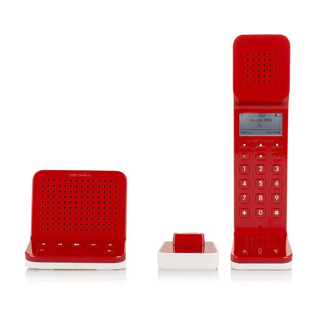【SWISSVOICE】L7無線電話-紅色