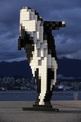 IMG_7229.jpg (mikepirnat) Tags: travel light sunset vacation sky sculpture canada mountains art water statue architecture vancouver clouds buildings harbor britishcolumbia cities whale orca digitalorca