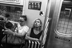 I To Eye. (rockerlan) Tags: nyc people newyork eye train underground subway unitedstates manhattan sony midtown to passenger contact i rx100