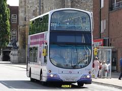 First 37164 (Coco the Jerzee Busman) Tags: uk bus ahead coach go first hampshire southampton bluestar