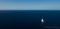 Simply blue (Khris72) Tags: blue sea mer azul boat spain bleu bateau mallorca espagne voile majorque saiing