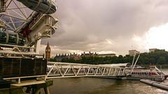 Underneath London Eye (Davina Tijani) Tags: london river design londoneye riverthames attraction