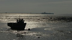 (KatharineFraser) Tags: sea cloud water thames clouds out pier boat seaside fishing sand long mud yacht tide horizon estuary streams lowtide mast longest leigh southend silouhette marshes muds shafow
