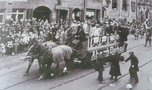 Dachau - Munich carnival float, 1937 - prisoners bound for the camp