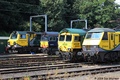 90045 66593 66420 70019 23rd July 2014 Ipswich (Ian Sharman 1963) Tags: station electric yard train diesel engine july loco 66 class locomotive 70 90 23rd ipswich 2014 freightliner 90045 66420 66593 70019